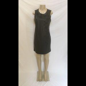 NWOT Calvin Klein Size 6 Black Faux Leather Dress